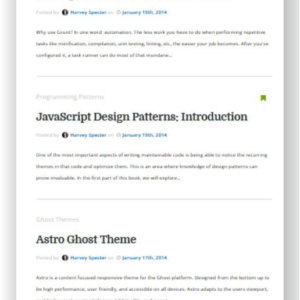 Ghost Blog Theme