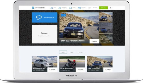 Joomla Car Classified Template