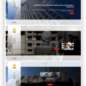 HTML Firmen Template