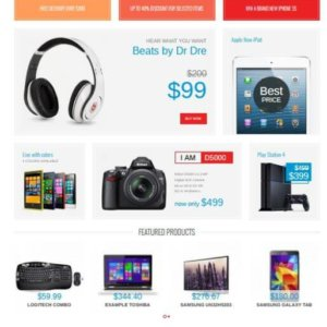 Joomla Electronic Shop Template