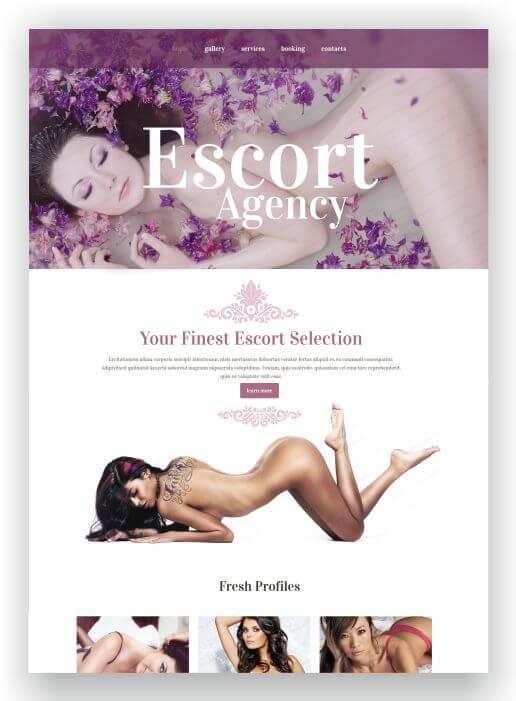 Escort Service Template HTML5
