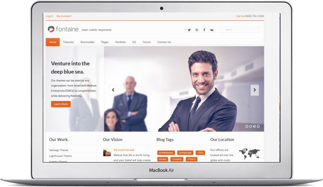 Joomla business template fontaine download template here joomla business cheaphphosting Choice Image