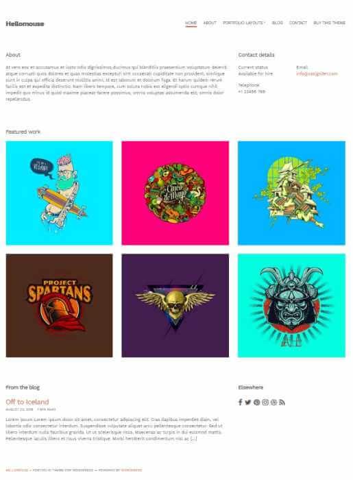 WordPress Portfolio Theme Hellomouse