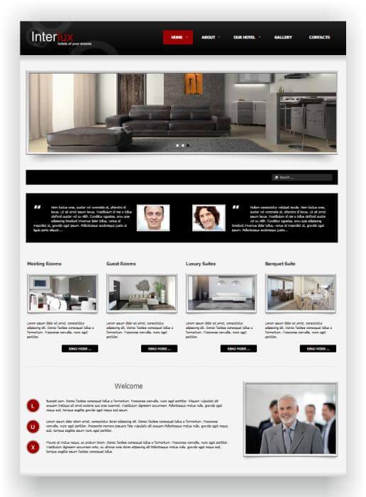 Joomla Hotel Template Interlux - Hier ansehen und downloaden!
