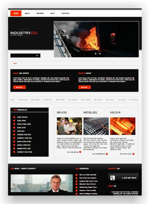 Joomla industry template for business and industry download here joomla industry template wajeb Choice Image