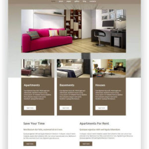 Joomla Real Estate Rental Theme