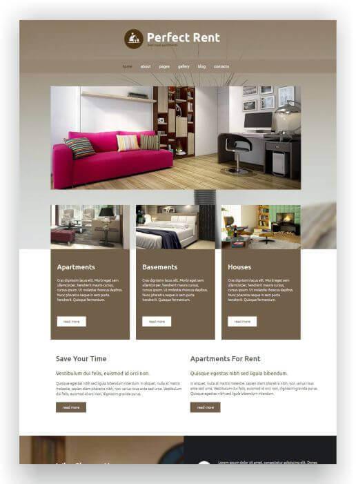 Joomla Real Estate Rental Theme