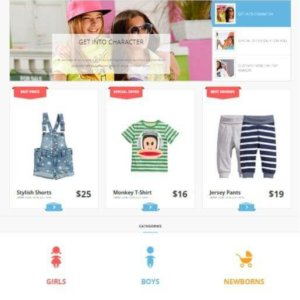 Joomla Kids Fashion Store