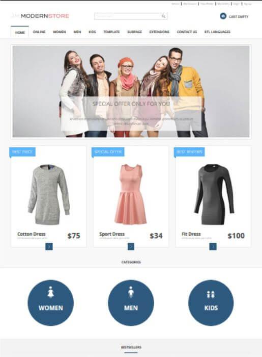 Joomla Online Store Template