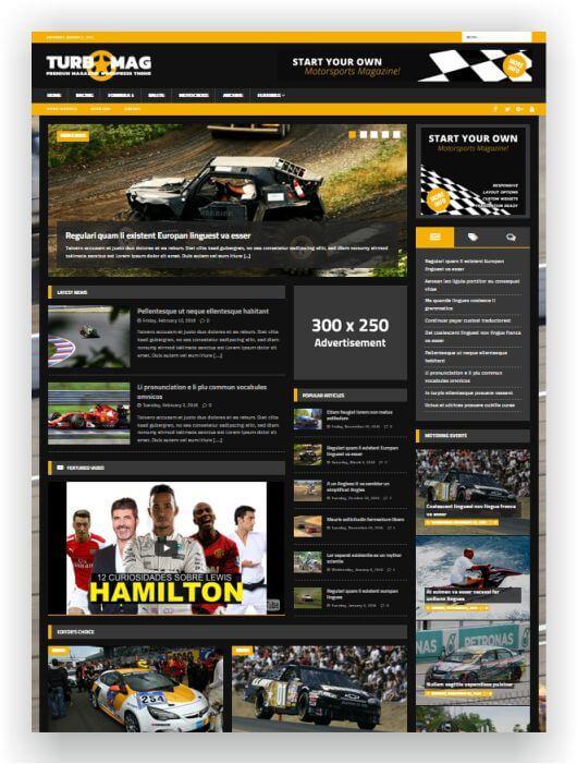 WordPress Motor Magazine