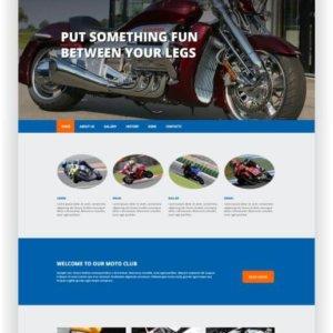 HTML5 Motorrad Webseite