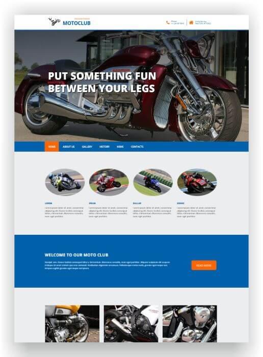 HTML5 Motor Theme