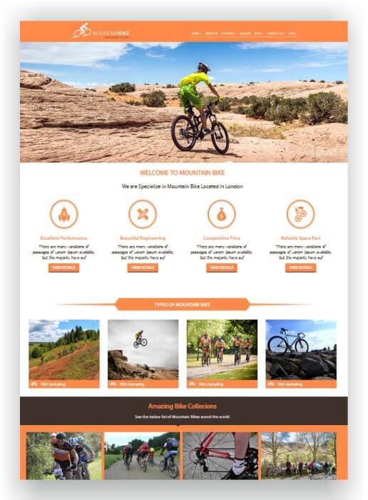 HTML Fahrrad Template