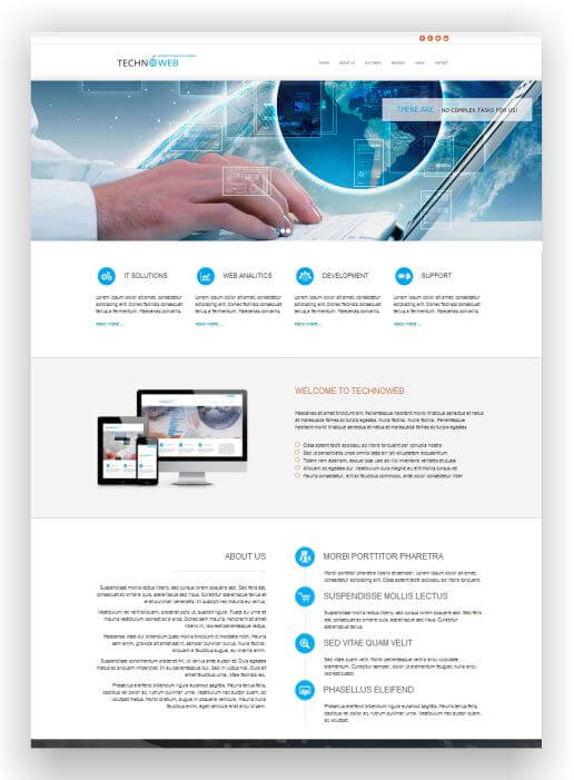 HTML Technic Template - One-Page Template for High-Tech Business!