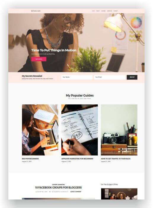 WordPress Blog and Business Theme