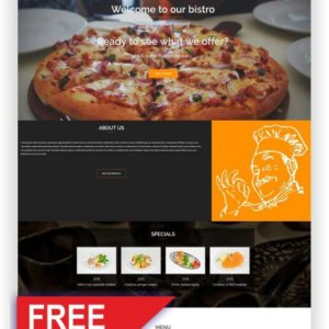 Gratis WordPress Restaurant Thema