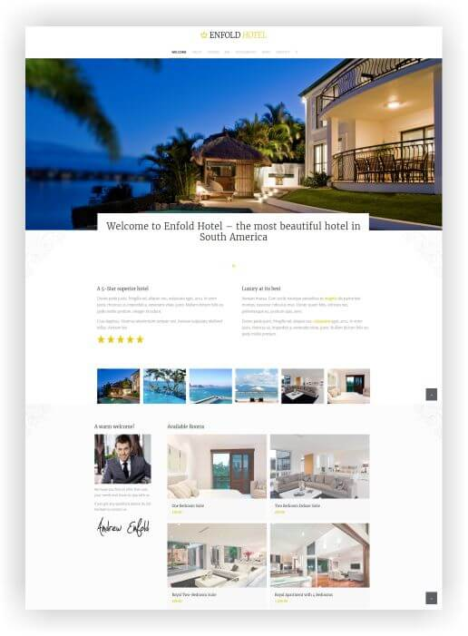 Website for Hotel with WordPress