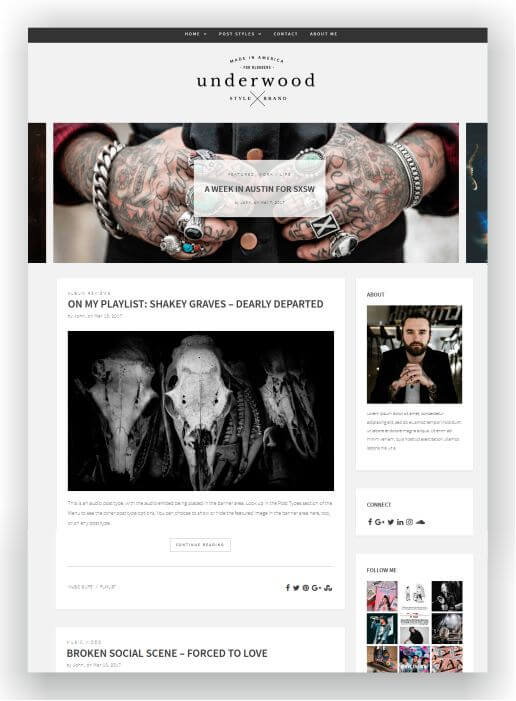 Modern WordPress Blog Theme