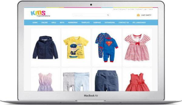 Joomla Kids Fashion Store