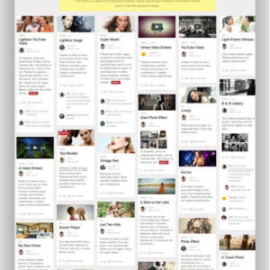 WordPress Pinterest Style Thema