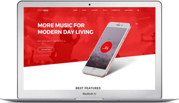 Joomla App Template