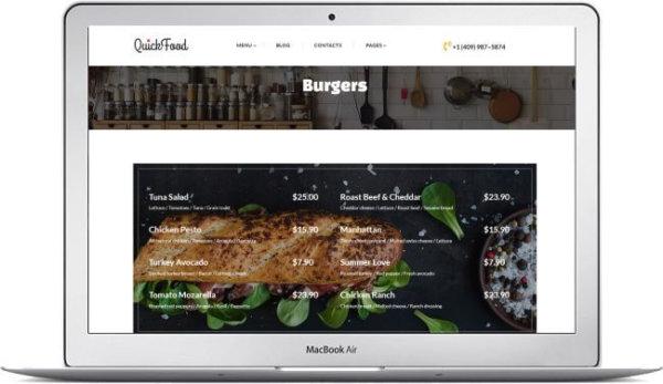 Fast Food Website