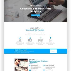 HTML5 Free Landing Page
