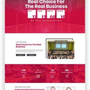 HTML5 Event Website