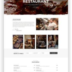 HTML Restaurant Vorlage