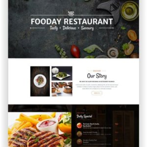 HTML5 Restaurant Theme Fooday