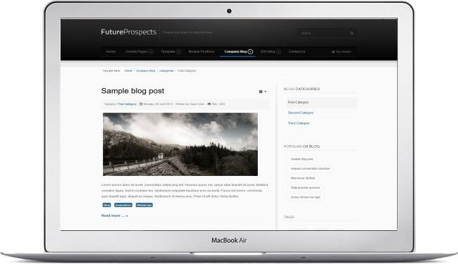 Joomla Landing Page Template Business Blog Promotion - Joomla landing page template