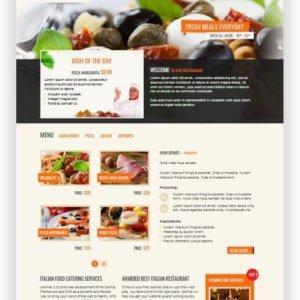 Joomla Italian Restaurant Theme