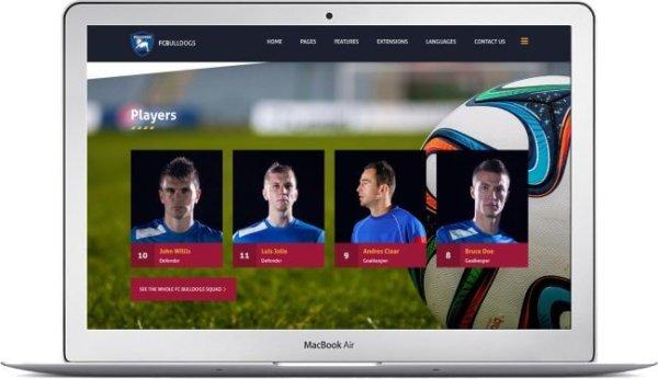 Webseite für Fussballverein