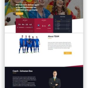 Joomla Football Club Website