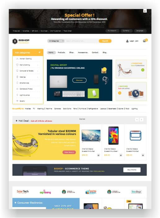 Magento 2 Electronic Store Template