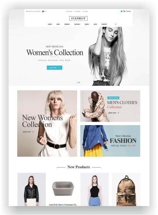 Magento Fashion Shop Template