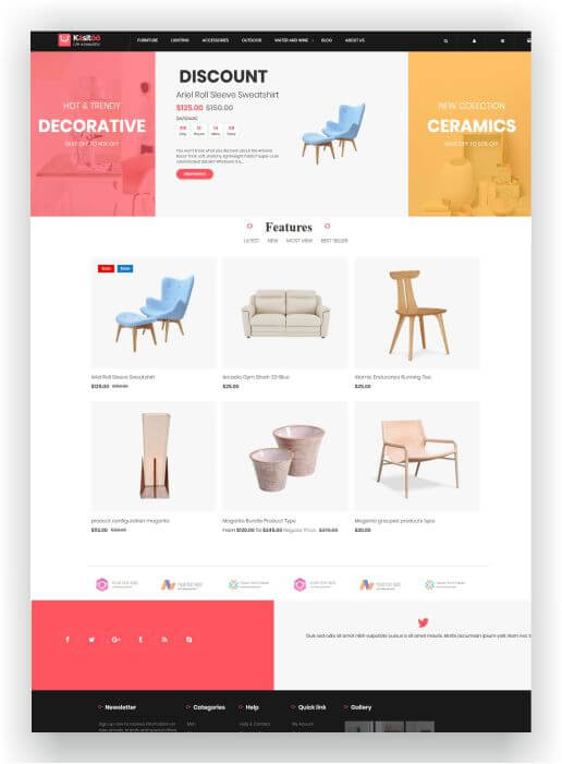 Magento 2 Free Furniture Theme - Download here the theme for