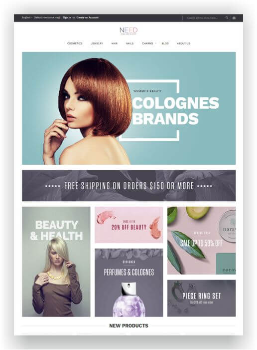 Magento 2 Free Beauty Theme