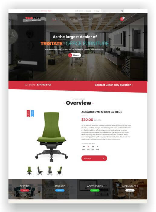 Magento 2 Office Furniture Theme