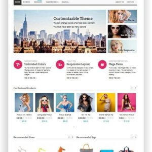 Magento Fashion Shop Theme