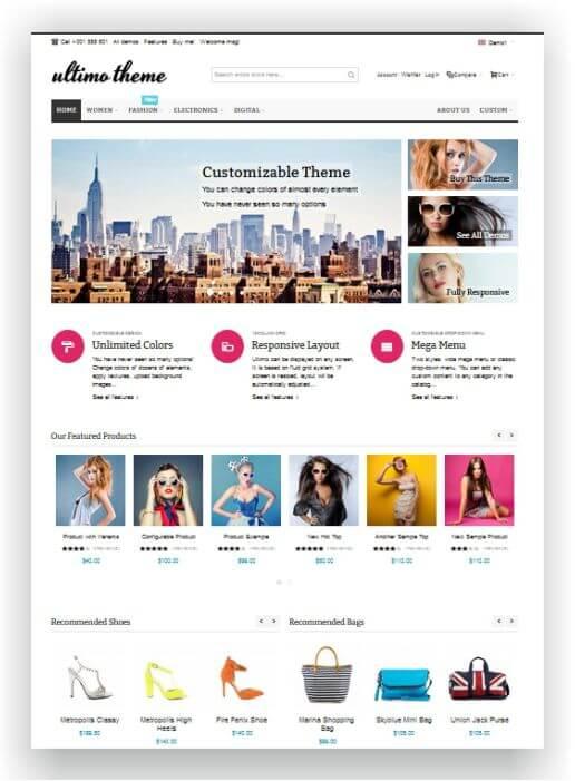 Magento Fashion Shop Theme