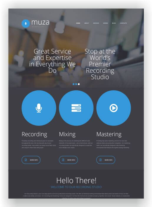 MotoCMS Recording Studio Template