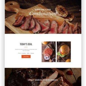 Webseite für Grillrestaurant