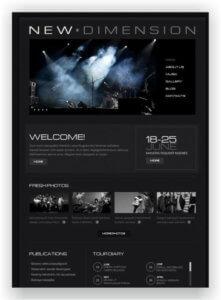 MotoCMS Music Landing Page