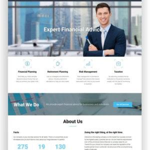 Webseite für Finanzdienstleister