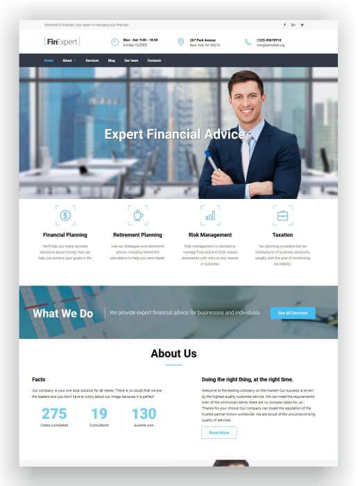 MotoCMS for Financial Advisors