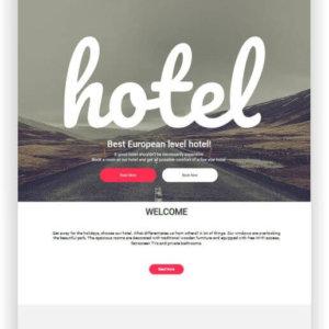 MotoCMS Minimalist Hotel Theme