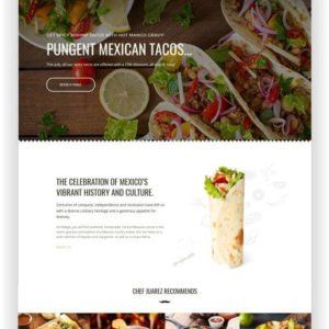 Webseite für mexikanisches Restaurant
