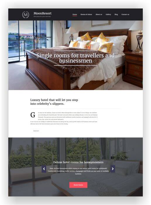MotoCMS Hotel Template