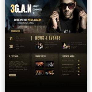 MotoCMS Webseite für DJ oder Sänger